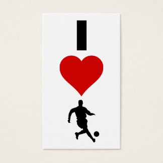 I Love Soccer (Vertical) Business Card