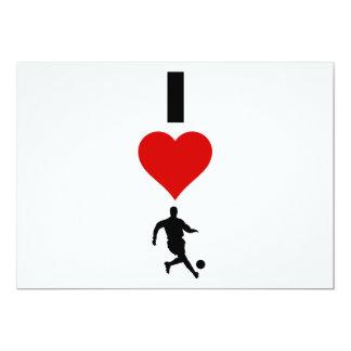 I Love Soccer (Vertical) Card