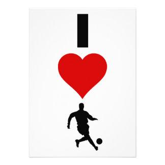 I Love Soccer (Vertical) Invitation