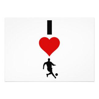 I Love Soccer (Vertical) Invites