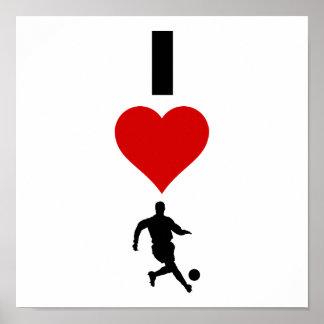 I Love Soccer (Vertical) Poster