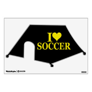 I Love Soccer! Room Decals