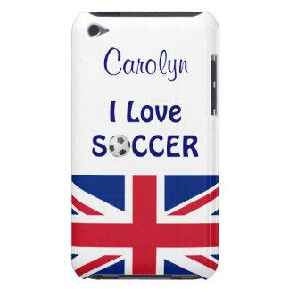 I Love Soccer/Womens/Girls Team-U.K. Flag Barely There iPod Case