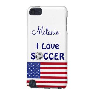 I Love Soccer/Womens/Girls Team-U.S.A. Flag iPod Touch 5G Cover