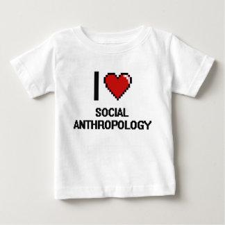 I Love Social Anthropology Digital Design Shirt