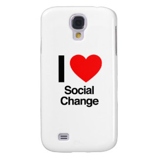 i love social change galaxy s4 cover