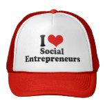 I Love Social Entrepreneurs Mesh Hats