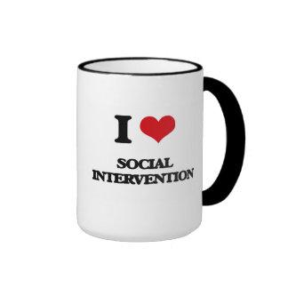 I Love Social Intervention Ringer Coffee Mug