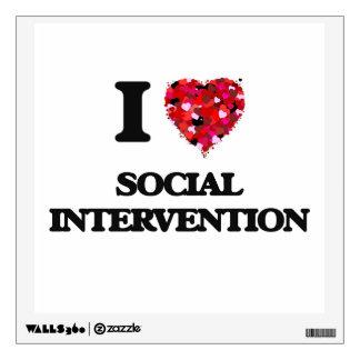 I Love Social Intervention Room Sticker