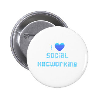 I Love Social Networking Pinback Button