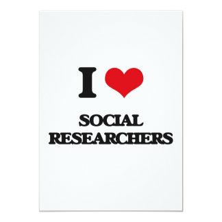 I love Social Researchers 5x7 Paper Invitation Card
