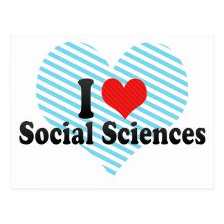 I Love Social Sciences Postcard