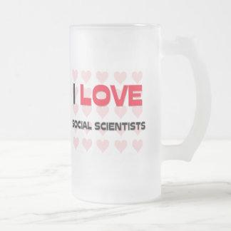 I LOVE SOCIAL SCIENTISTS 16 OZ FROSTED GLASS BEER MUG