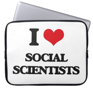 I love Social Scientists Laptop Sleeves