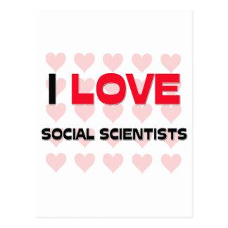 I LOVE SOCIAL SCIENTISTS POSTCARDS