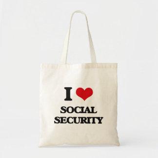 I love Social Security Budget Tote Bag