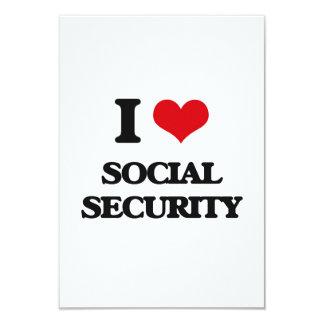 "I love Social Security 3.5"" X 5"" Invitation Card"