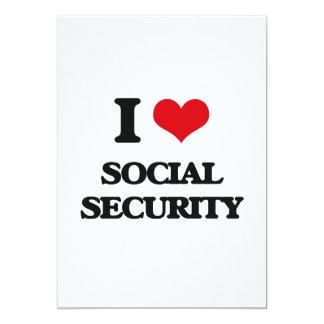 "I love Social Security 5"" X 7"" Invitation Card"