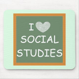 I Love Social Studies Mouse Pad
