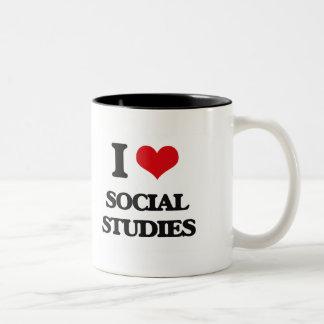 I love Social Studies Two-Tone Coffee Mug
