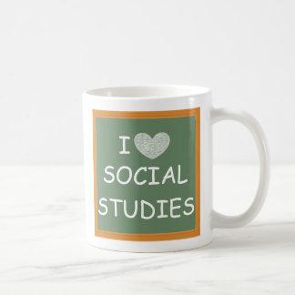 I Love Social Studies Classic White Coffee Mug