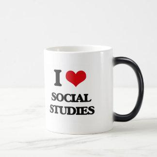 I love Social Studies 11 Oz Magic Heat Color-Changing Coffee Mug