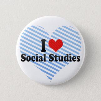 I Love Social Studies Pinback Button