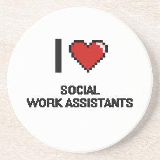 I love Social Work Assistants Drink Coasters
