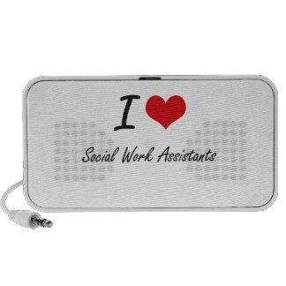 I love Social Work Assistants Portable Speaker