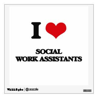 I love Social Work Assistants Room Sticker