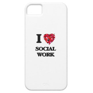 I Love Social Work iPhone 5 Cases