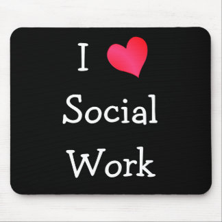 I Love Social Work Mouse Mats