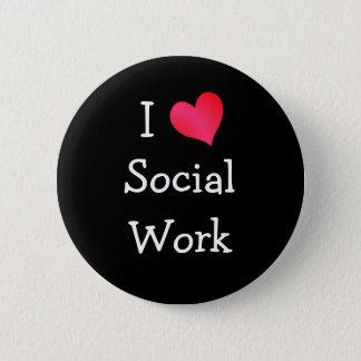 I Love Social Work Pinback Button