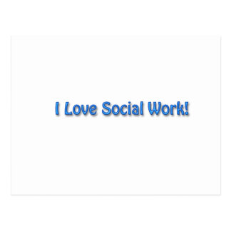 I Love Social Work Postcard