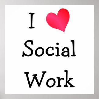 I Love Social Work Poster