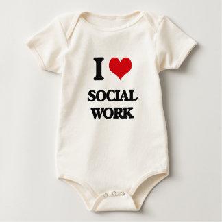 I love Social Work Baby Creeper