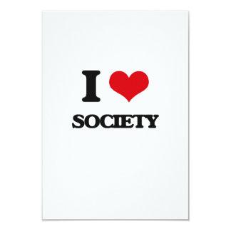 I love Society 3.5x5 Paper Invitation Card