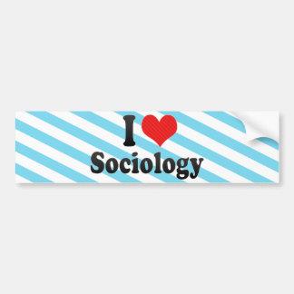 I Love Sociology Bumper Sticker