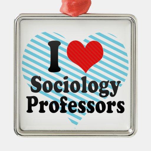 I Love Sociology Professors Christmas Ornaments