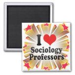 I Love Sociology Professors Fridge Magnet