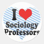 I Love Sociology Professors Round Stickers