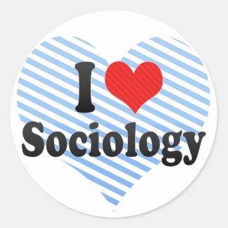 I Love Sociology Round Stickers