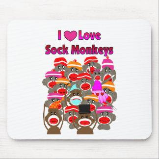 """I LOVE SOCK MONKEYS""   Gifts Mouse Pad"