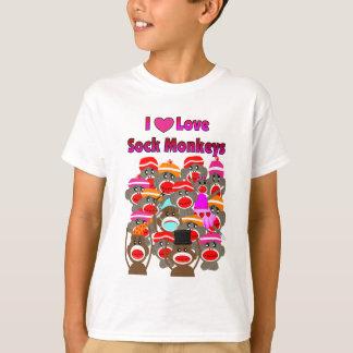 """I LOVE SOCK MONKEYS""   Gifts T-Shirt"