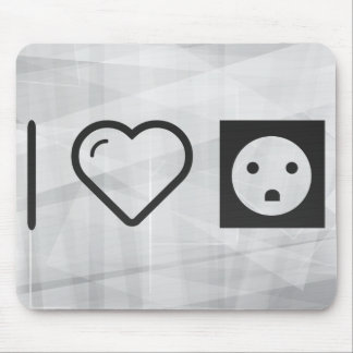 I Love Socket Electricals Mouse Pad