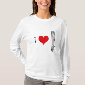 I Love Socks Long Sleeve Tee Ladies T Shirt