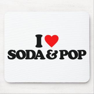 I LOVE SODA & POP MOUSEPAD