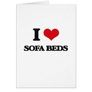 I love Sofa Beds Greeting Card