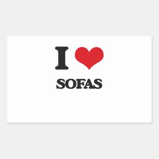 I love Sofas Rectangular Sticker