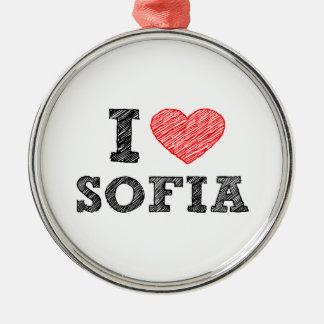 I-love-Sofia Metal Ornament